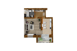 ЖК Центральный: планировка 1-комнатной квартиры 50 м²