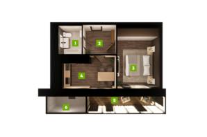 ЖК Центральный: планировка 1-комнатной квартиры 48.2 м²
