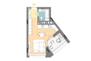 ЖК Unit.Home: планировка 1-комнатной квартиры 30.7 м²