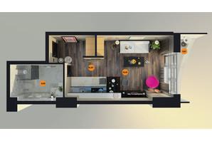 ЖК Unity Towers: планування 1-кімнатної квартири 30.4 м²