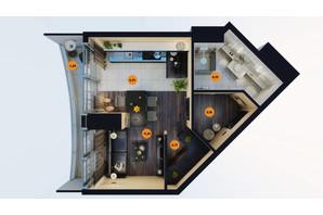 ЖК Unity Towers: планування 1-кімнатної квартири 31.35 м²