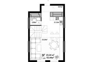 ЖК Uno City House: планування 3-кімнатної квартири 103.32 м²