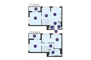 ЖК Урловский-1: планировка 4-комнатной квартиры 124.93 м²