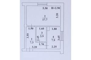 ЖК Ваш Дім на Вузівському: планування 1-кімнатної квартири 36.8 м²
