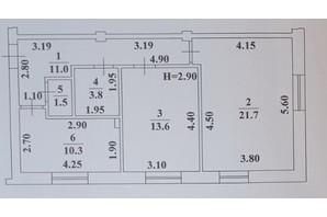 ЖК Ваш Дім на Вузівському: планування 2-кімнатної квартири 61.9 м²