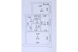ЖК Ваш Дім на Вузівському: планування 2-кімнатної квартири 47.9 м²