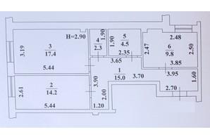 ЖК Ваш Дім на Вузівському: планування 2-кімнатної квартири 63.2 м²