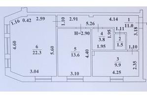ЖК Ваш Дім на Вузівському: планування 2-кімнатної квартири 62.1 м²
