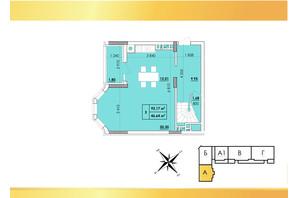 ЖК Венский Квартал: планировка 3-комнатной квартиры 92.17 м²