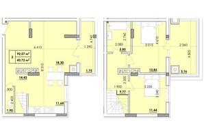 ЖК Венский Квартал: планировка 3-комнатной квартиры 92.57 м²