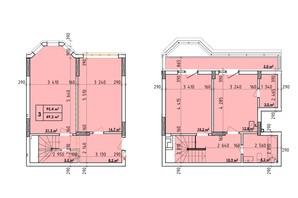 ЖК Венский Квартал: планировка 3-комнатной квартиры 95.4 м²