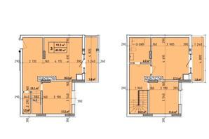 ЖК Венский Квартал: планировка 3-комнатной квартиры 92.3 м²