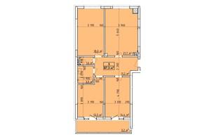 ЖК Венский Квартал: планировка 3-комнатной квартиры 87.3 м²