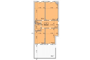 ЖК Венский Квартал: планировка 3-комнатной квартиры 95.3 м²