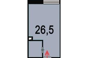 ЖК Венский дом: планировка 1-комнатной квартиры 27 м²