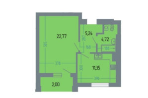 ЖК Версаль: планування 1-кімнатної квартири 46 м²