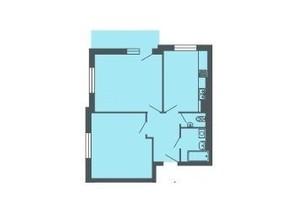 ЖК Версаль: планування 2-кімнатної квартири 63.8 м²