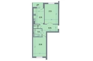 ЖК Версаль: планування 2-кімнатної квартири 76.2 м²