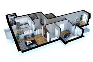 ЖК Victory Club House: планировка 3-комнатной квартиры 110.9 м²