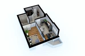 ЖК Victory Club House: планировка 1-комнатной квартиры 54 м²