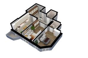 ЖК Victory Club House: планировка 2-комнатной квартиры 79 м²