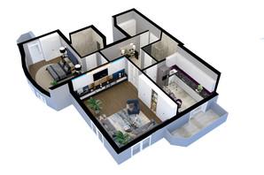 ЖК Victory Club House: планировка 2-комнатной квартиры 84.2 м²
