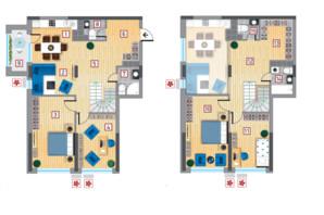 ЖК Victory V: планировка 5-комнатной квартиры 142.31 м²