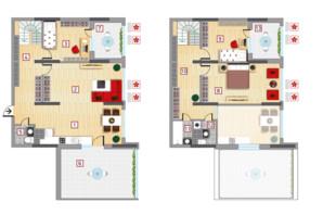 ЖК Victory V: планировка 4-комнатной квартиры 165.52 м²