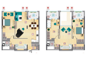ЖК Victory V: планировка 4-комнатной квартиры 190.23 м²