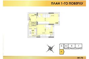 ЖК Віденський Квартал: планування 1-кімнатної квартири 39.98 м²