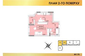 ЖК Віденський Квартал: планування 1-кімнатної квартири 39.18 м²