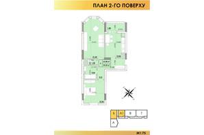 ЖК Віденський Квартал: планування 2-кімнатної квартири 63.58 м²