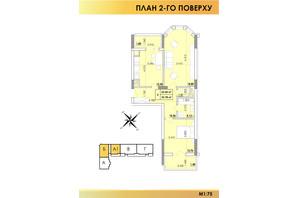 ЖК Віденський Квартал: планування 2-кімнатної квартири 65.42 м²