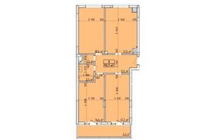 ЖК Віденський Квартал: планування 3-кімнатної квартири 93.7 м²