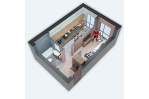 ЖК Viking Home: планировка 1-комнатной квартиры 30.96 м²