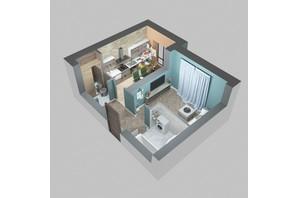 ЖК Viking Home: планировка 1-комнатной квартиры 31.59 м²