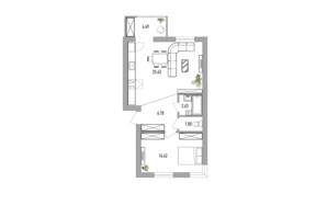 ЖК Вілла Севілья: планування 2-кімнатної квартири 55 м²