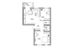 ЖК Вілла Севілья: планування 3-кімнатної квартири 73 м²