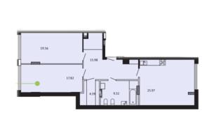ЖК Вільне Місто: планування приміщення 93.04 м²