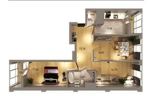 ЖК Вільне Місто: планування 3-кімнатної квартири 87.2 м²