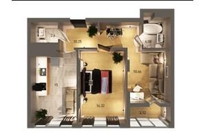 ЖК Вільне Місто: планування 2-кімнатної квартири 62.03 м²