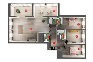 ЖК Вільне Місто: планування 4-кімнатної квартири 148.86 м²
