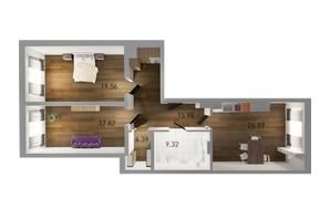 ЖК Вільне Місто: планування 2-кімнатної квартири 93.04 м²