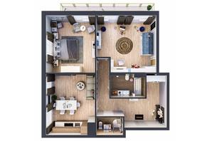 ЖК Владимирский: планировка 2-комнатной квартиры 111.14 м²