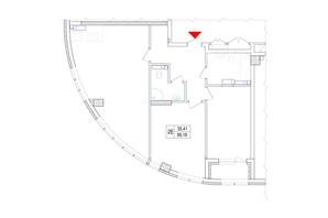 ЖК Владимирский: планировка 2-комнатной квартиры 99.18 м²