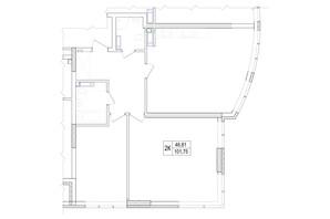 ЖК Владимирский: планировка 2-комнатной квартиры 101.75 м²