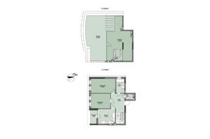 ЖК Vyshgorod Plaza: планування 3-кімнатної квартири 114.04 м²