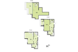 ЖК Vyshgorod Plaza: планування 2-кімнатної квартири 136.17 м²