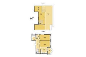 ЖК Vyshgorod Plaza: планування 3-кімнатної квартири 127.72 м²