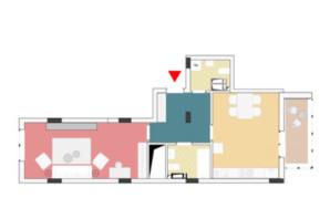 ЖК Wellspring: планування 1-кімнатної квартири 60.67 м²